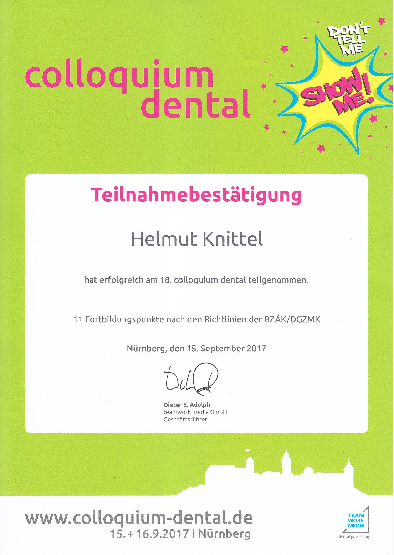 Colloquium Dental 2017