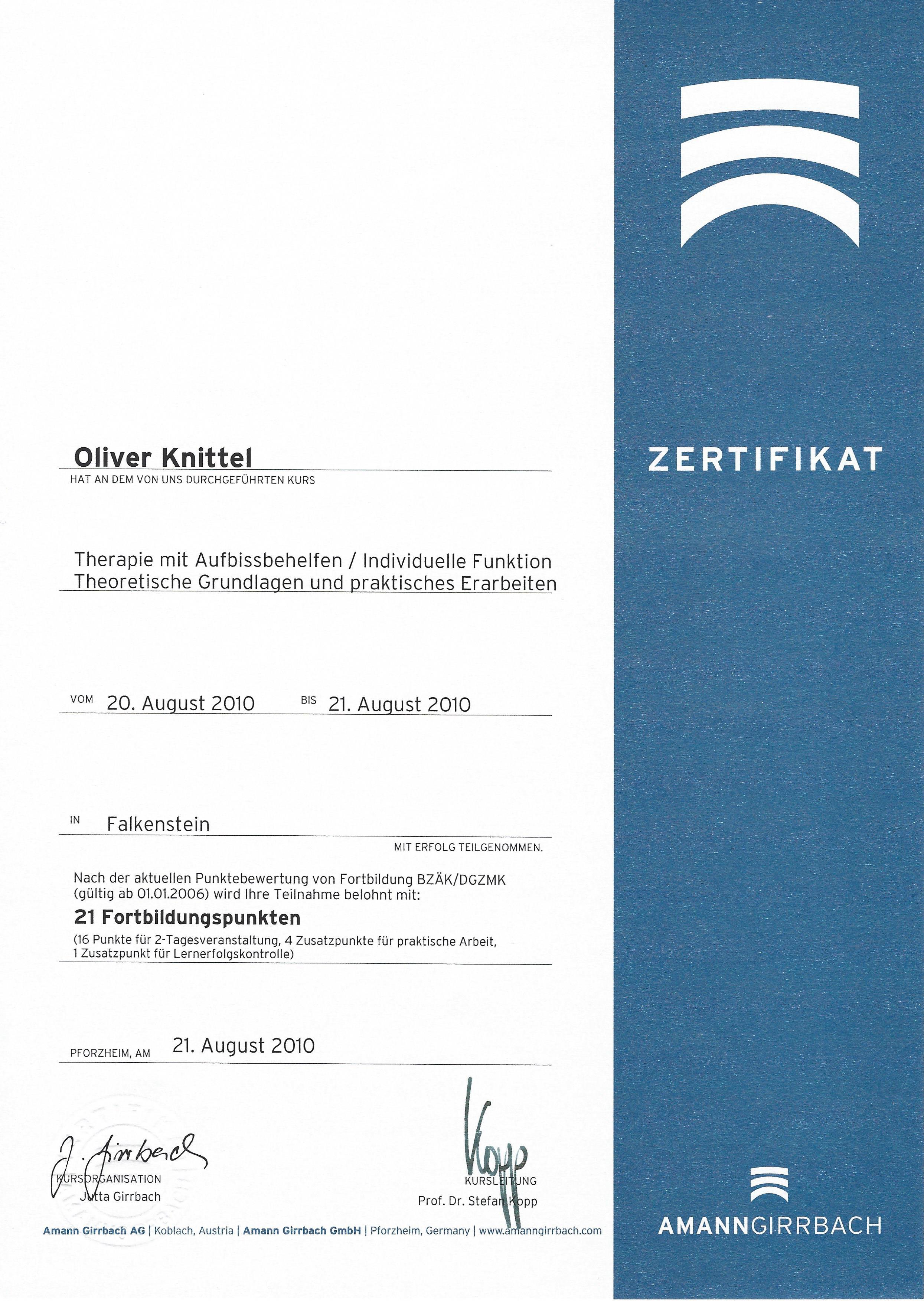 Schienenzertifikat